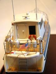 Модель моторной яхты