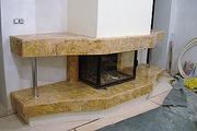 Камин из Мрамора.Камин из мрамора Киев.Камин из мрамора в интерьере.