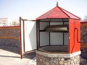 Домики для колодцев - металлические,  деревянные (сруб,  вагонка.