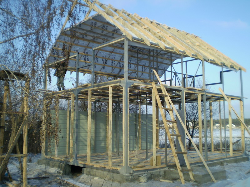 Особенности металлокаркасный дачный домик