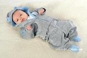 Велюровый костюмчик с ушками для новорожденных