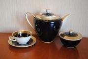 Элитный кобальтовый чайный сервиз Германия