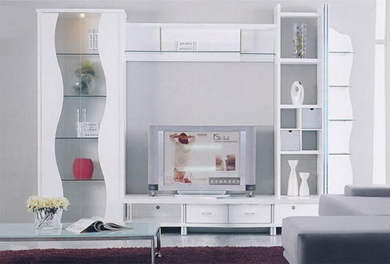 недорогая мебель белая стенка в гостиную
