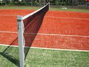 Фоны противоветровые для теннисного корта. Стойки б/тенниса,  сетки.