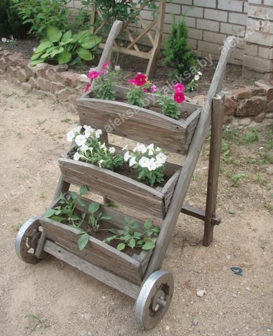 Подставки для садовых цветов своими руками фото 82