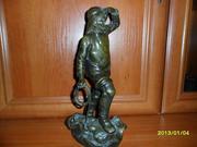 Старинная статуэтка бронза
