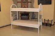 кровати металлические двухъярусные и односпальные для общежитий, хостелов.
