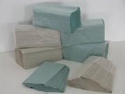 Полотенца бумажные зеленые типа Z-Z (180шт/уп) 1ящ.-20уп.