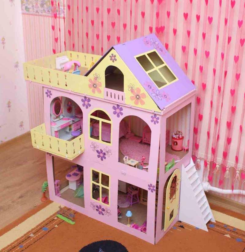 Кукольные домика своими руками и мебель для них 25