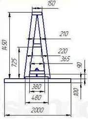 Пирамида для мрамора и гранита.