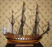 модель парусника 18 века флагмана Петра Великого Ингерманланд