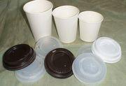 Продам бумажные стаканчики (стаканы) белые,  с Вашим логотипом