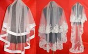 Купить свадебною фату - шантилье,  короткую,  длинную,  среднюю,  вишитую - в наличии и под заказ