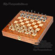 Серебряные шахматы ручной работы