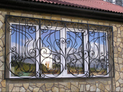 Решетки на окна с  установкой Киев,  козырьки и навесы с установкой Киев