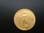 Золотая монета 20 долларов Сент-Годенса 1924 года (США)