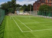 Теннисный корт,  постройка