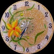 Настенные витражные часы,  декоративные часы.