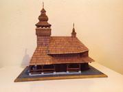 модель деревянной церкви