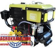 Одноцилиндровый  двигатель ДД180ВЭ на мотоблок,  трактор