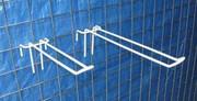 Кронштейн двойной на сетку торговую 50 мм