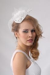 Вуалетка свадебная,  шляпка