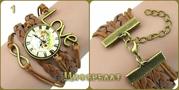 Искусственные наручные часы,  украшение Браслет-часы (кулон).