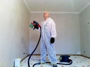 Покраска потолков,  стен,  обоев,  услуга малярные работы. Киев.