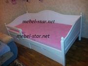Подростковая кровать кровать из дерева с ящиками