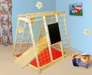 Спортивно-игровой комплекс Кораблик сосна,  детский спортивный уголок
