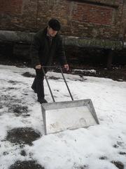 Лопата для снега широкая (скрепер)