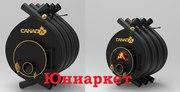 Дровяная печь калориферная Canada classic 400 м3 Барахты Крушинка