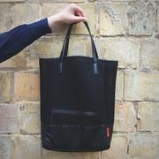 Стильная сумка-сетка со вставкой из экокожи