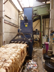 Пресс автоматический для вторсырья (макулатуры,  ПЭТ) PAAL 40 тонн