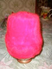 Новая, женская, зимняя шапка-ангорка, ярко-красного цвета.