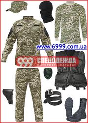 Камуфляжная форма для охраны и военных,  берцы,  шевроны