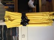 Платье без рукава желтого цвета