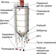 Цементный силос для навального цемента, стальной.