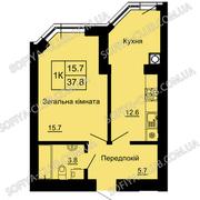 Квартира в новостройке в Вишневом от застройщика