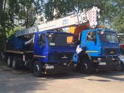 Новый модернизированный автомобильный кран КС-55727-С-12 на шасси МАЗ