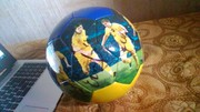 Мяч с автографоми основного состава зборной Украины обросца 2006 года
