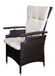 Кресло из искусственного ротанга с регулируемой спинкой.Германия