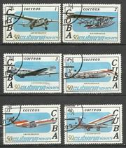 Продам марки Кубы 6 шт Авиация