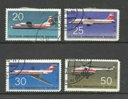 Продам марки  ГДР 4 шт Авиация