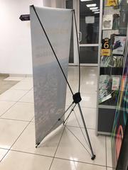 Мобильный выставочный стенд Паук,  х-баннер,  x-banner 60х160см и 80х180
