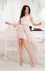 Нарядное пудровое платье-трансформер
