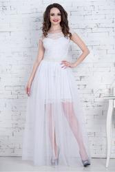 Красивое молочное платье-трансформер