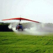Авиахимобработка мотодельтапланом вертолетом