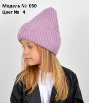 Подростковая женская вязаная зимняя шапка