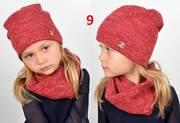 Демисезонный детский комплект,  шапка,  хомут